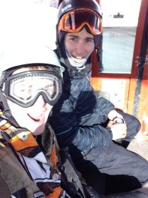 Friends hitting the slopes.