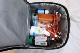 Jumble of meds, syringes and other