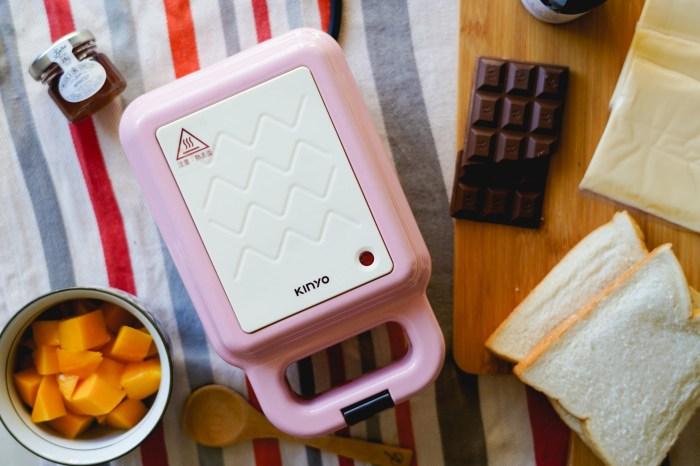 三明治機推薦|KINYO2in1三明治點心機:輕鬆在家來個豐盛早餐、鬆餅下午茶.鬆餅機.熱壓三明治