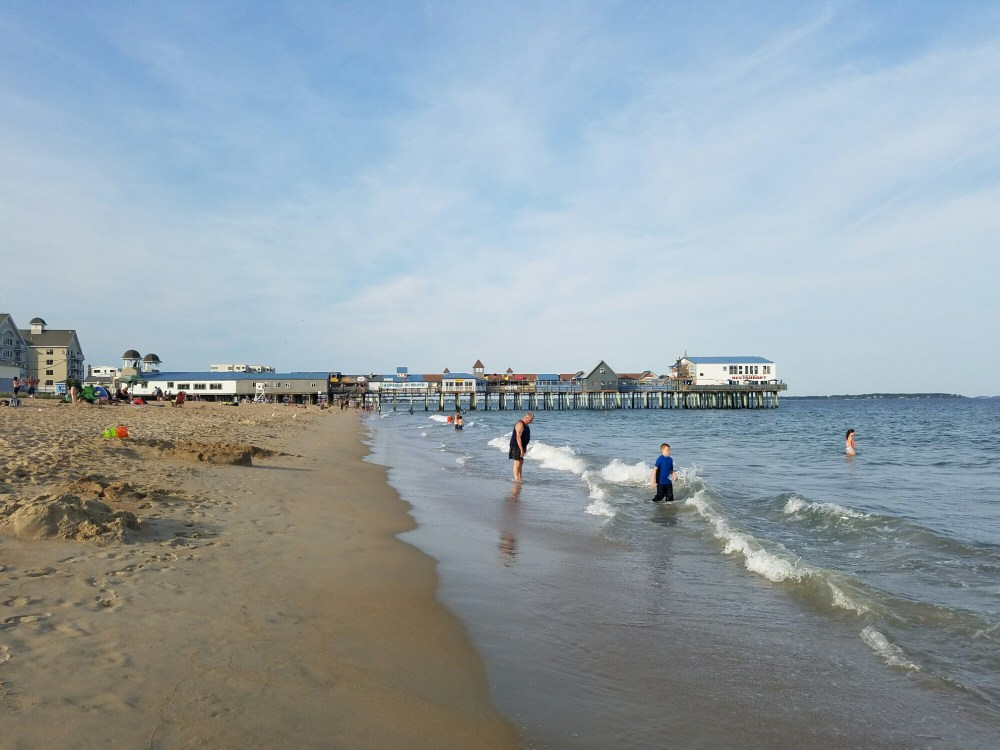 A view of the pier at Old Orchard Beach