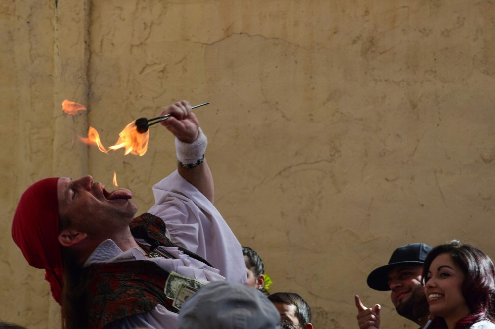 Knotty Nauticals Shantyman eats fire