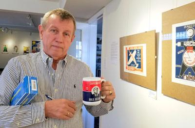Евгений Герко на выставке в Русском культурном центре «Наш Техас»