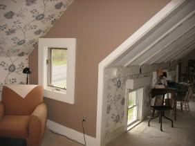 A cozy nook in the master bedroom.