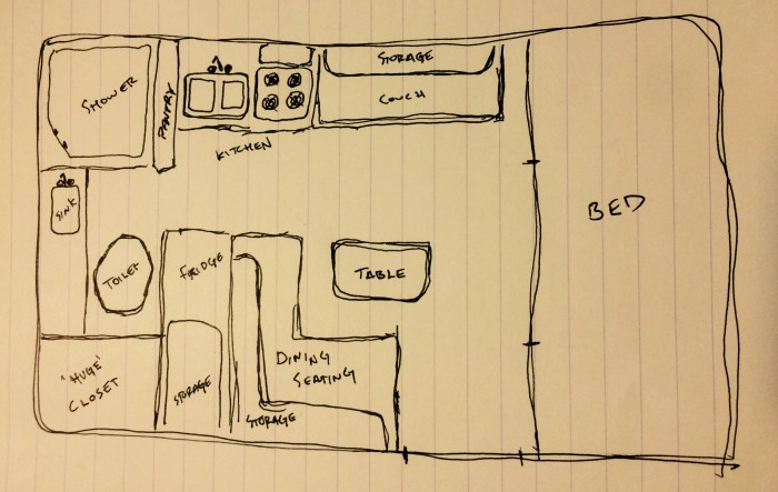 Vee Sketch Interior