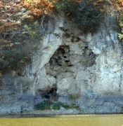 An interesting cliff face under the house.