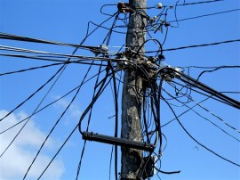 A typical utility pole.