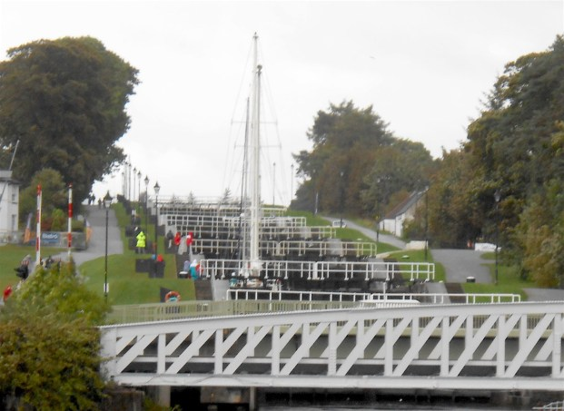 Eight locks in all at Neptune's Staircase.