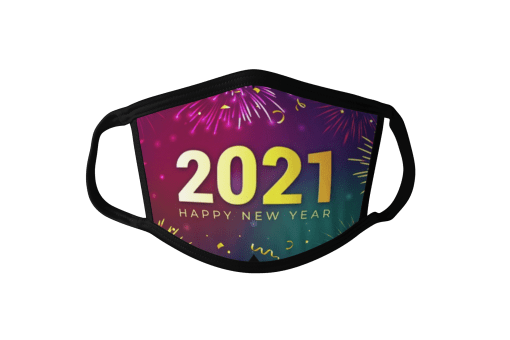 2021 Happy New Year Face Mask Fireworks Face Mask
