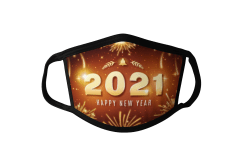 2021 Face Mask 2021 Happy New Year Face Mask 2021 Fireworks Face Mask 2021 Gold Fireworks Face Mask