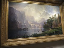 Among the Sierra Nevada, California, Bierstadt (1868) - breathtaking! Showcased America as the promised land just as many Europeans were immigrating. Artist sold tickets to his unveilings!