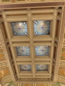aluminum leaf (not gold) ceiling