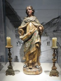 Our Lady of Mount Carmel statue, late 17th century, brought by Franciscans to use in Presidio chapel