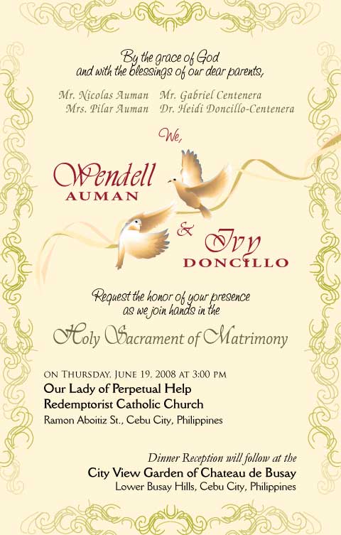 Invitation Card Designs Wendell Ivy Wedding