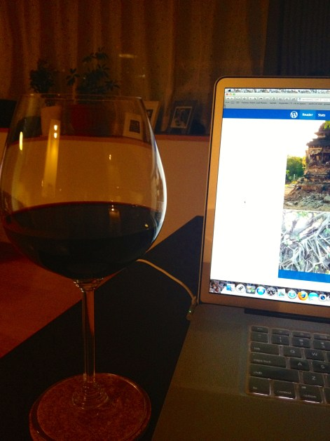 Multi-tasking with a glass of merlot