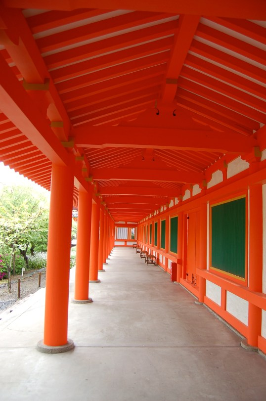 The whole west side of the temple was lined with this bright orange wall!