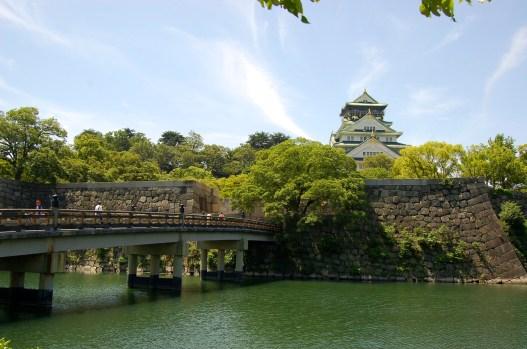 The main tower view from the Gokurakubashi Bridge