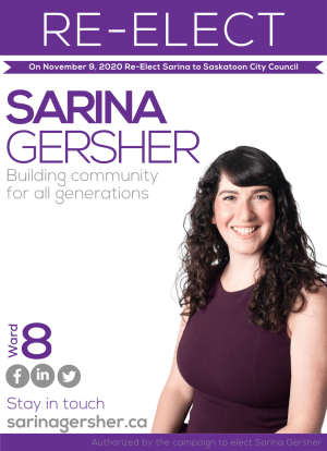 Sarina Gersher, Ward 8 City Councillor