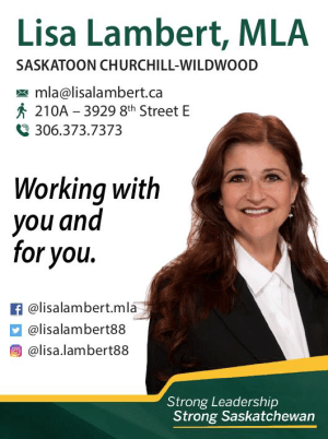 Lisa Lambert, MLA Saskatoon, Churchill-Wildwood