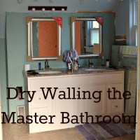 Dry Wall in the Master Bathroom