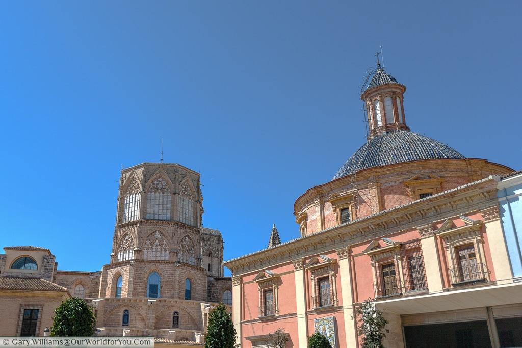 Basilica de la Virgen & the Cathedral, Valencia, Spain