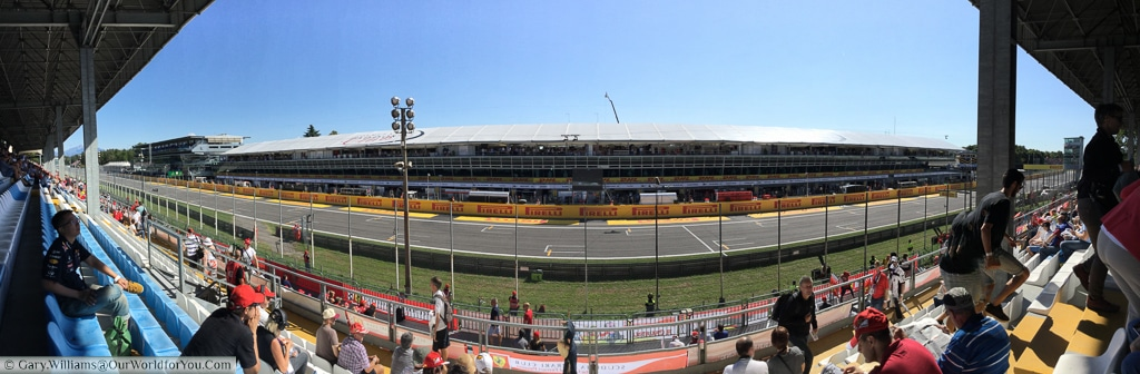 The Monza Circuit in the run up to the 2015 Grand Prix