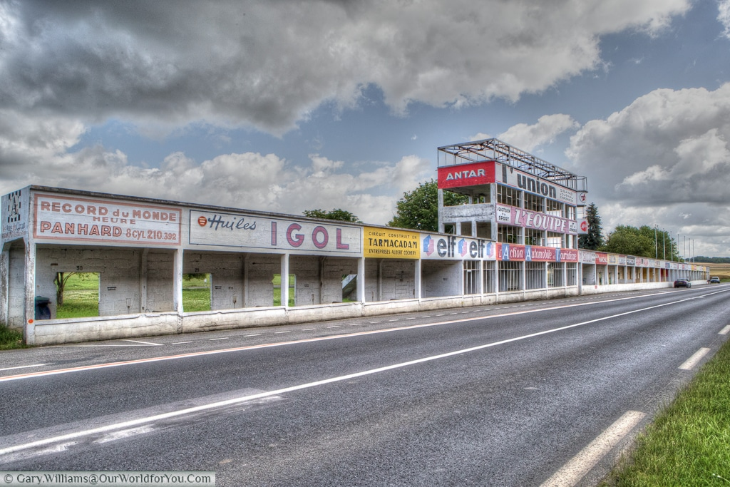The full pit complex from the Circuit Reims-Gueux, Reims, France