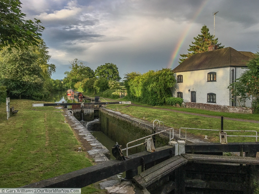 The Lock Keepers house, Wootton Rivers, Wiltshire, Kennet & Avon Canal, England, United Kingdom