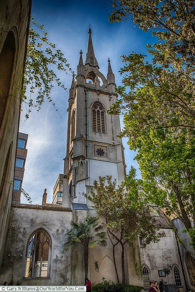 Christopher Wrens's Tower, St Dunstan's in the East, City of London, UK