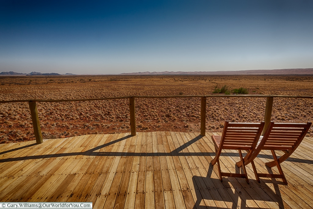The view from the Sossus Dune Lodge, Sossusvlei, Namibia