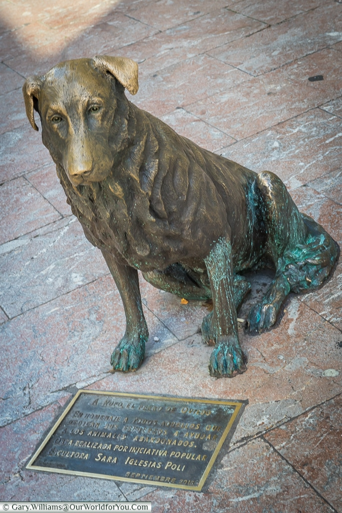 'Rufo' dedicated to a homeless dog in Oviedo, Spain