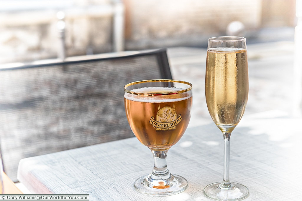 Refreshment at Ay, Champagne, France
