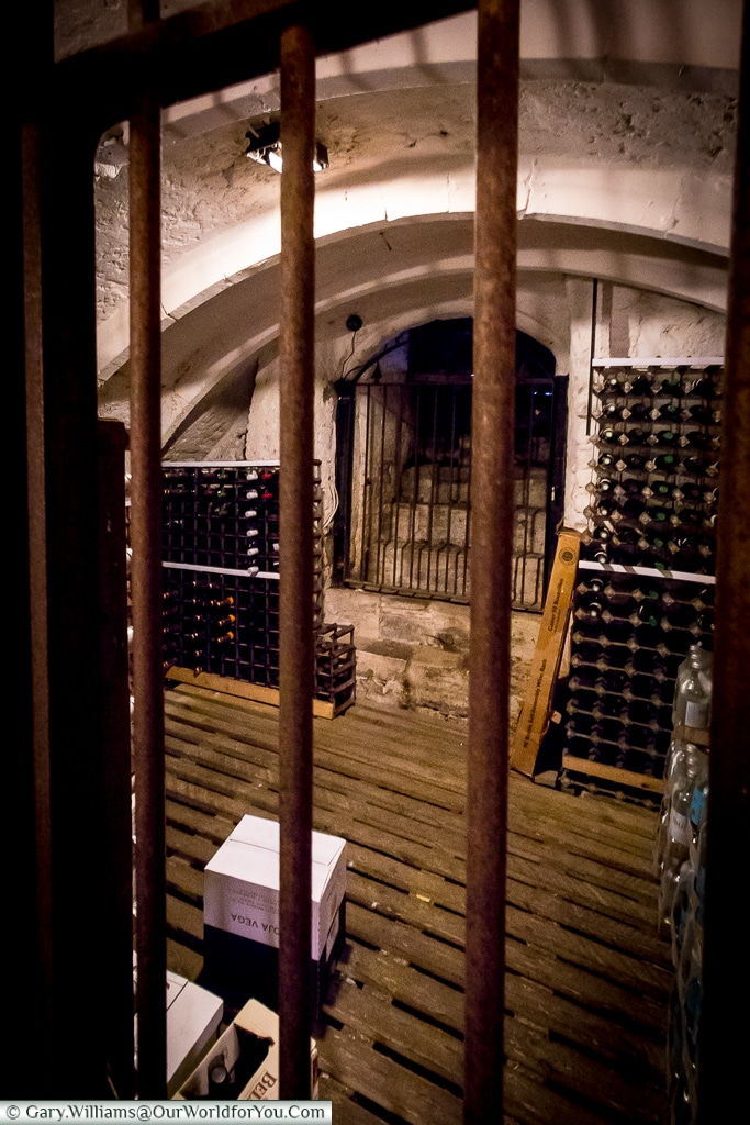 The cellar at the Mermaid Inn, Rye, East Sussex, England, UK