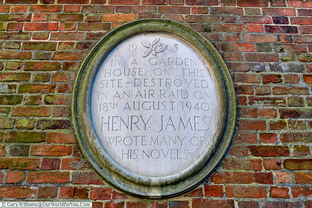 The plaque to Henry James, Rye, East Sussex, England, UK