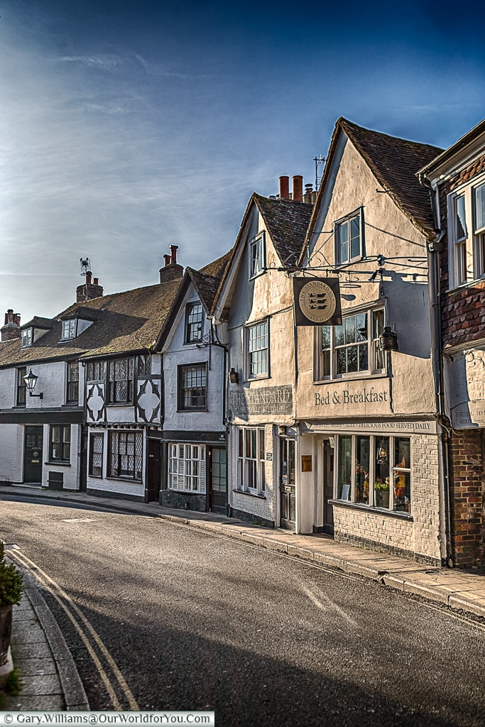View down the mint, Rye, East Sussex, England, UK