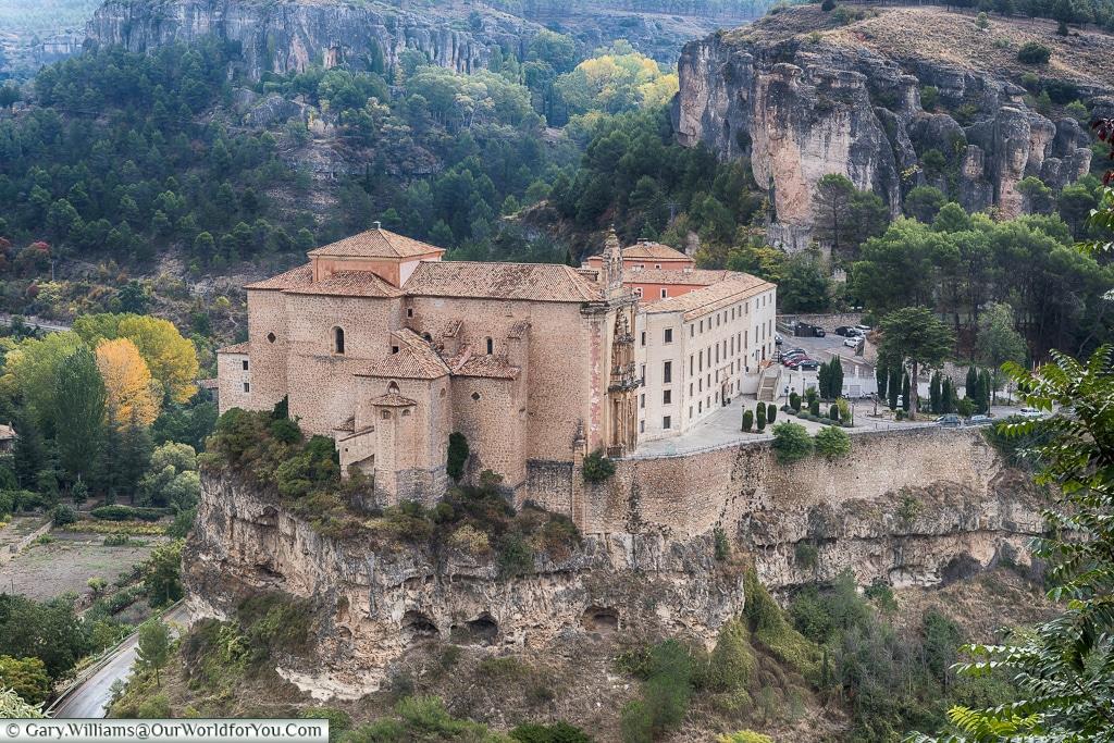 Looking down on the Parador, Cuenca, Spain