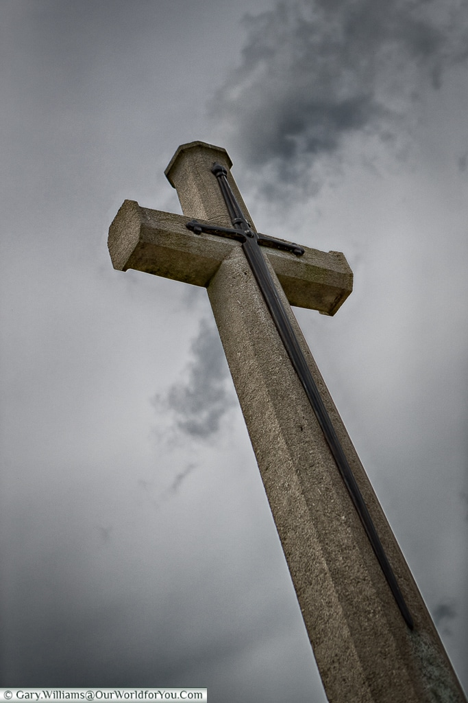 The Cross at Marfaux British Cemetery, Champagne Region, France