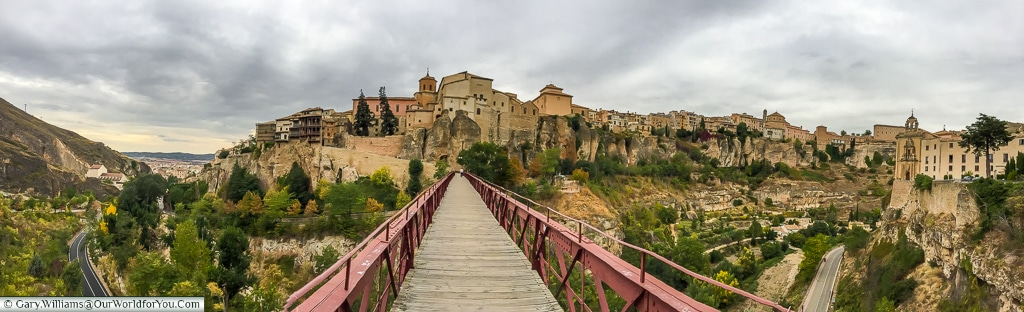 The pano view of Cuenca, Spain