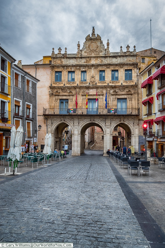 The townhall above the arches, Cuenca, Spain