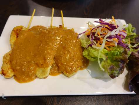 Chicken Satay at the Silk & Spice