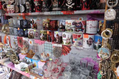 Some of the souvenirs available at Bran Castle