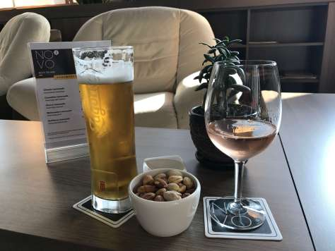 Relaxing in the lounge bar of the Novotel Sofia