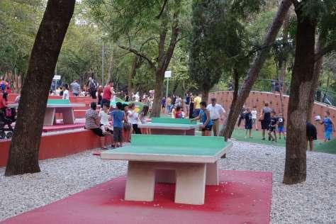 The Grand Park of Tirana next to the Sheraton Tirana Hotel