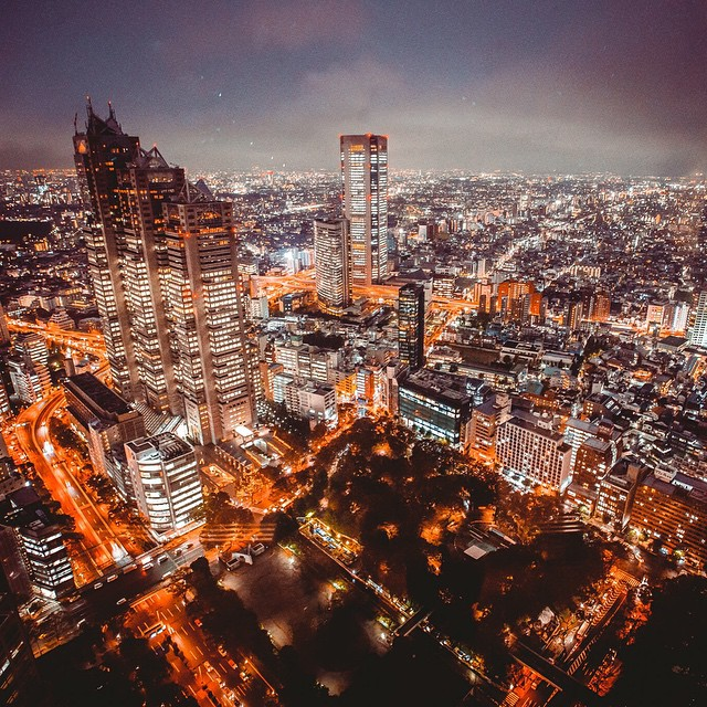 The view from Tokyo's metro government building. A great place to see #Shinjuku from high up and the best part is that it's free and open late. #Tokyo #Japan #ourworlds