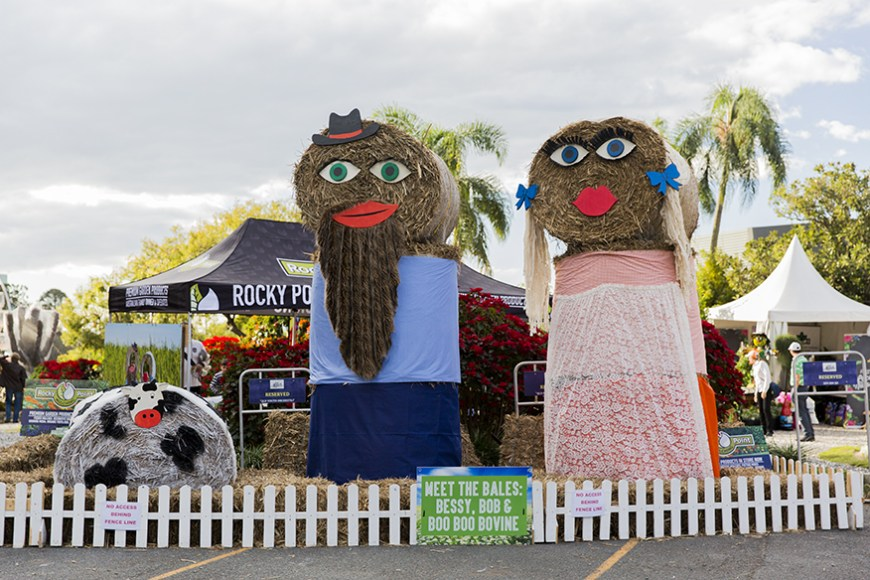 Meet the Golliwogs made from hay.