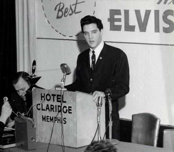 Elvis at the Claridge Hotel in Memphis