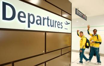 Famous departure gates that signal at 24hr plane voyage