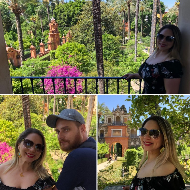 Passeando pelos jardins dos Real Alcázar de Sevilla