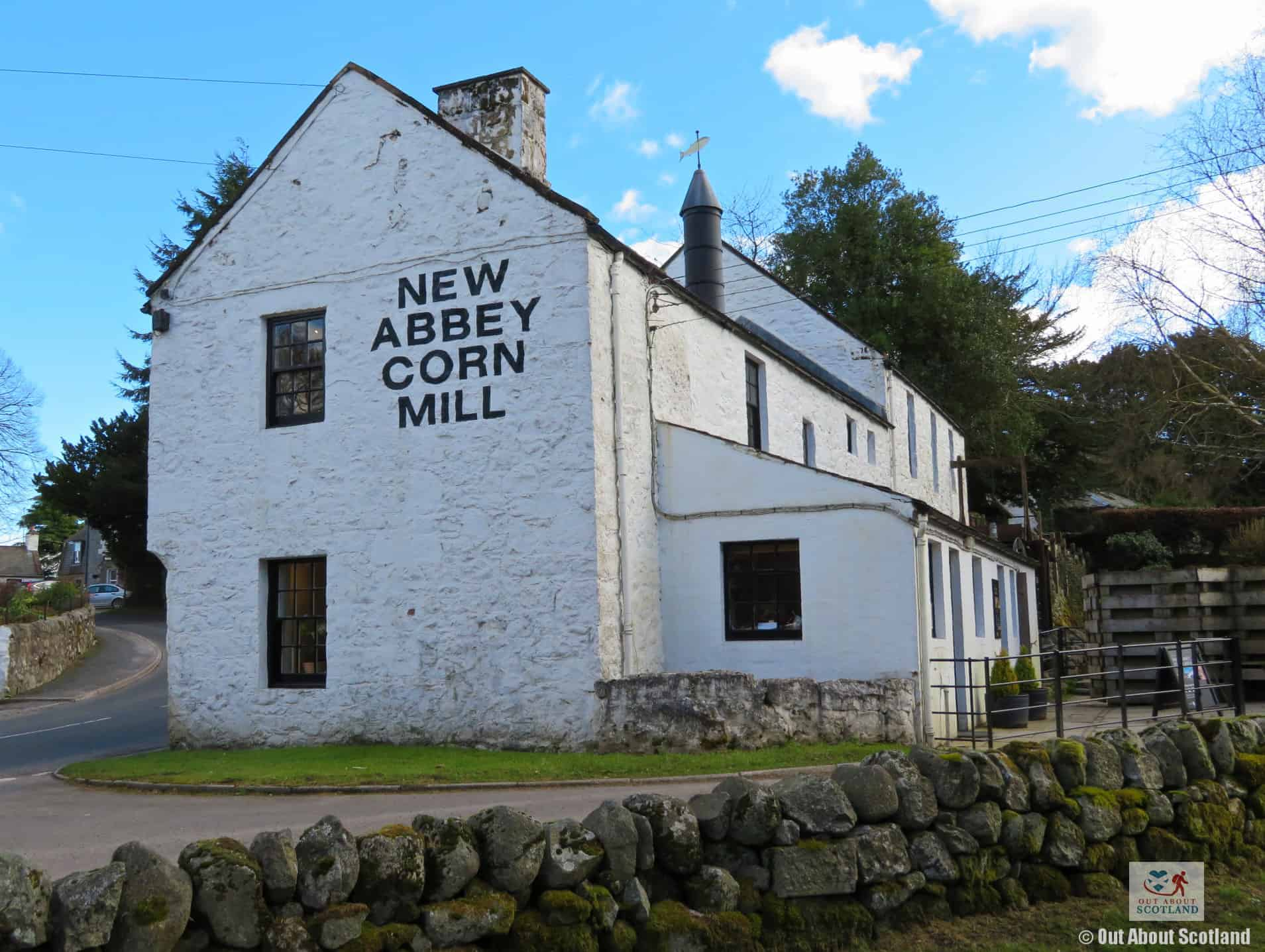 New Abbey Corn Mill from the picnic area