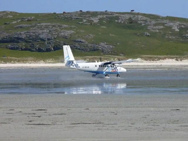 Barra Airport Beach Landing