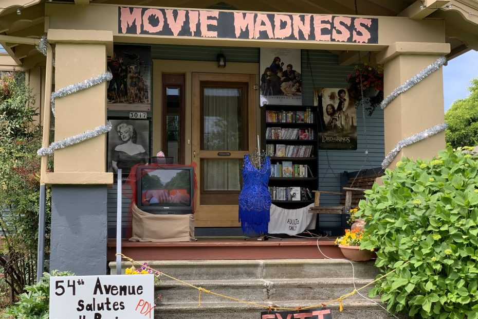Portland Porch Parade features local business Movie Madness